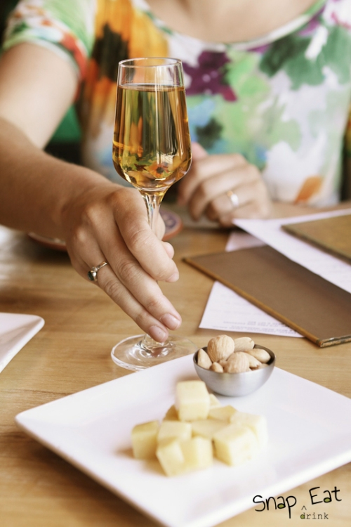 A Play on Flavors: almonds, cheese and sherry